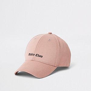 Pink 'modern chaos' baseball cap