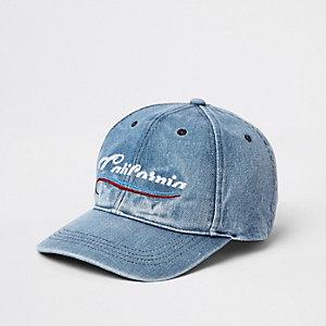 Blue 'California' denim baseball cap