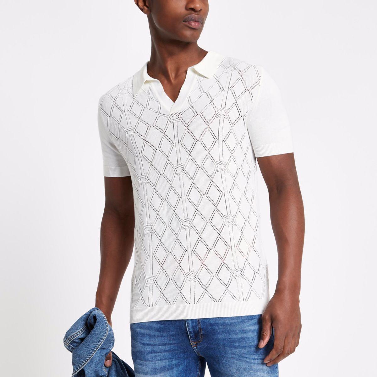 Slim Fit Poloshirt in Ecru