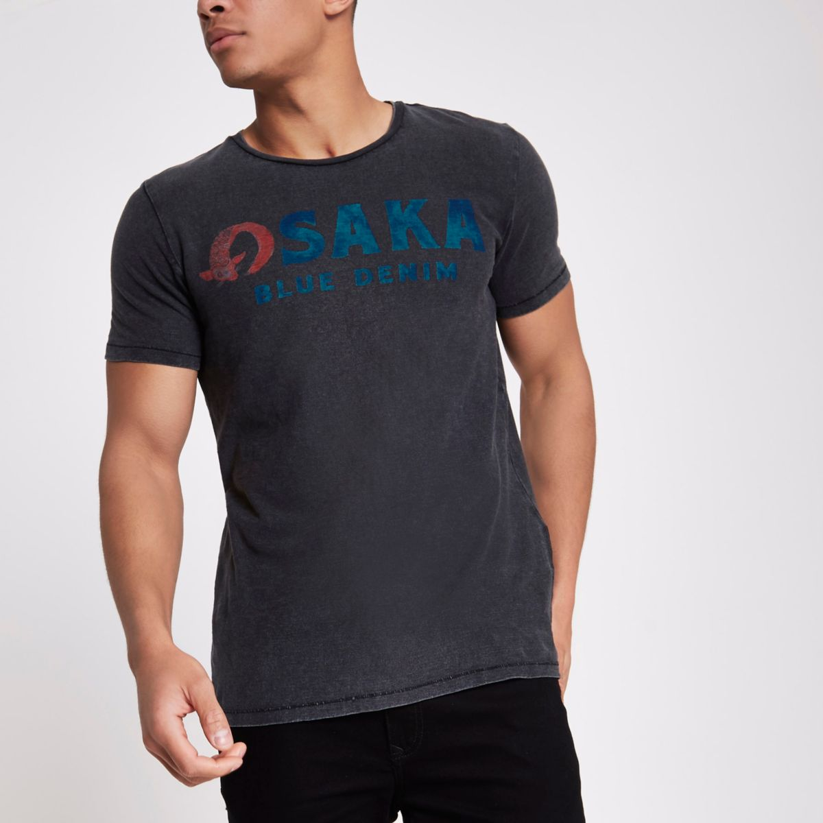 Jack & Jones black 'Osaka' T-shirt