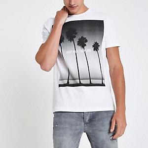 Jack & Jones Premium – T-shirt plage blanc