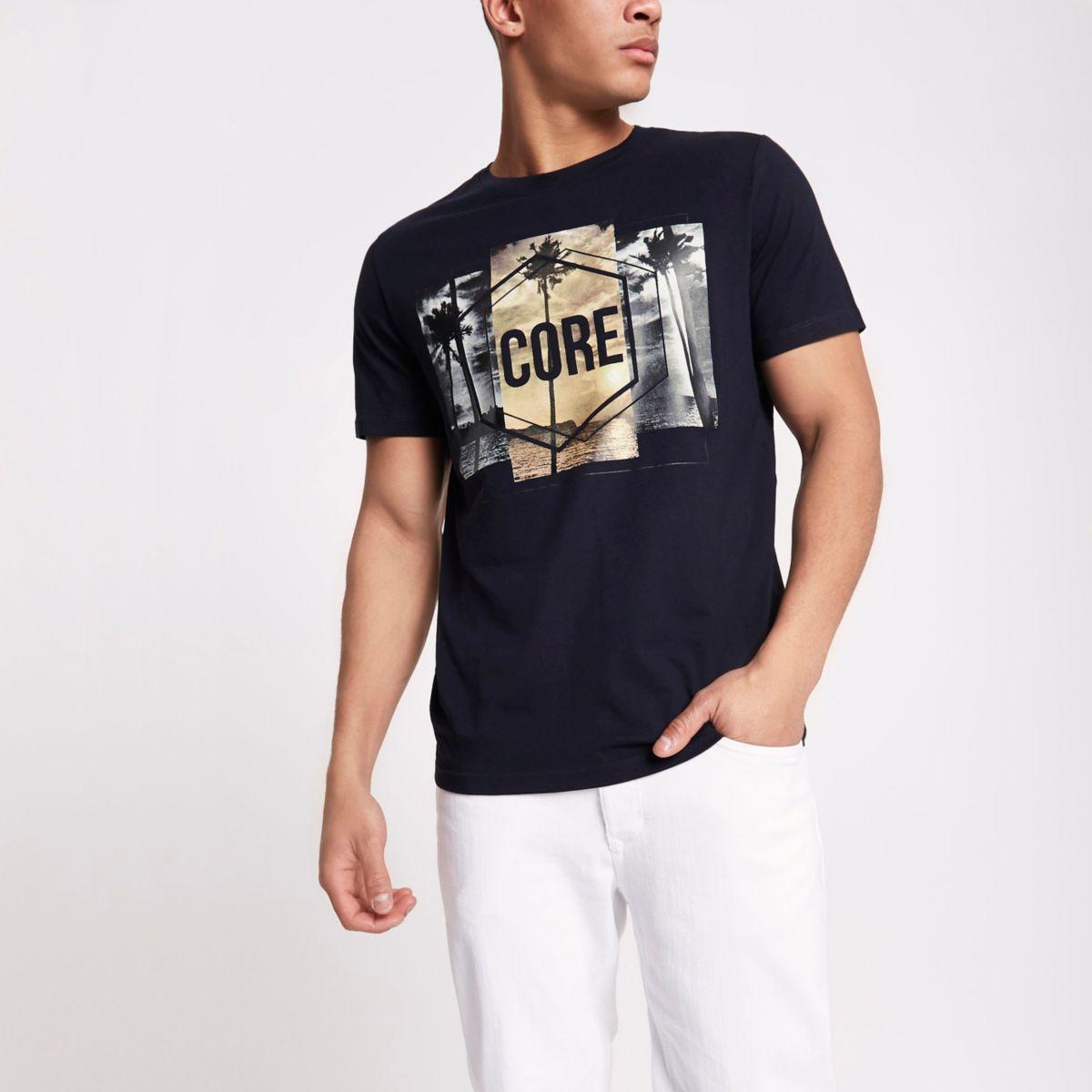 Jack & Jones navy 'core' T-shirt