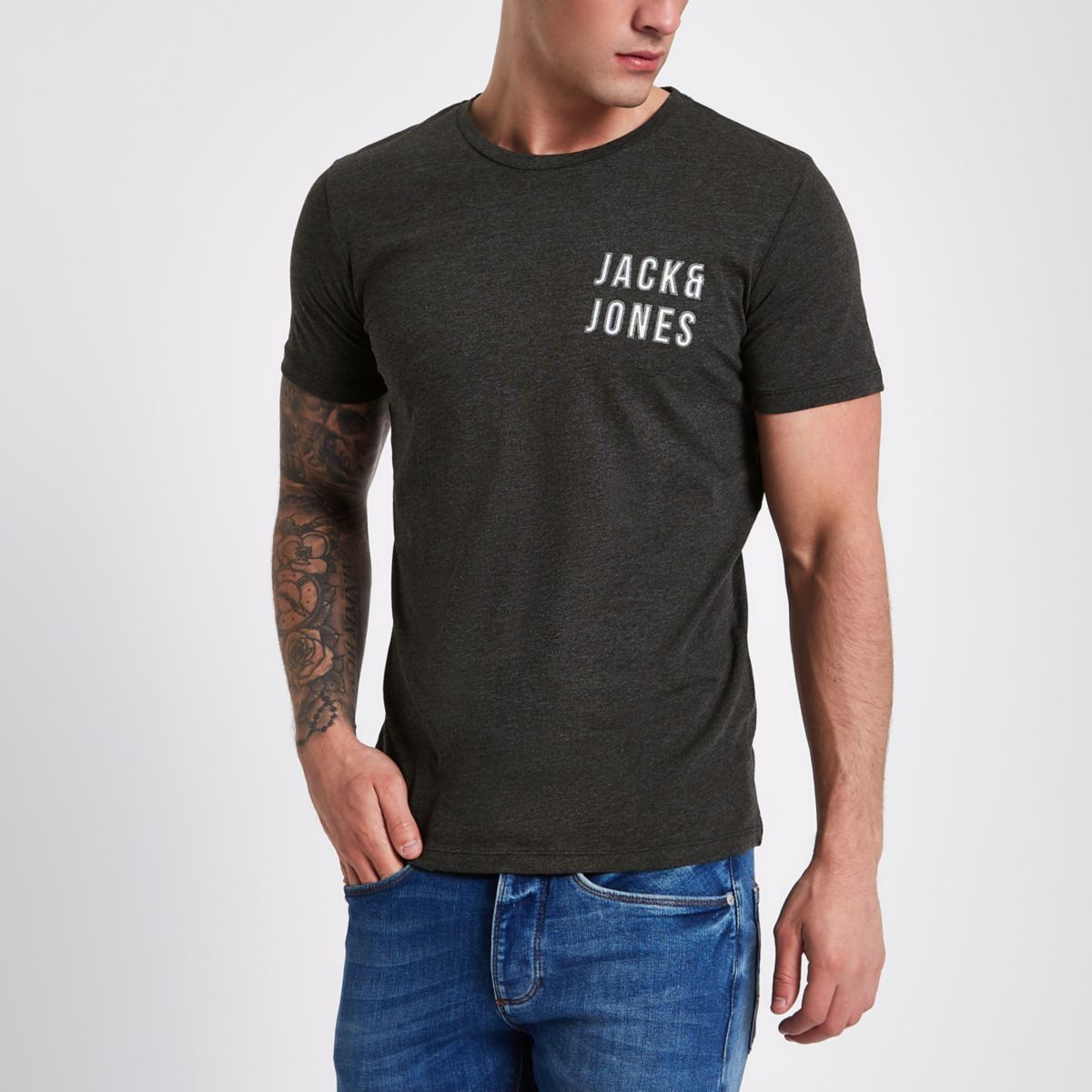 Jack & Jones Core navy printed T-shirt