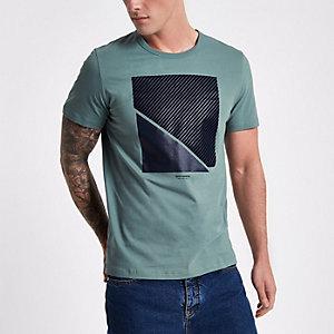 T-shirt texturé Jack & Jones Core vert