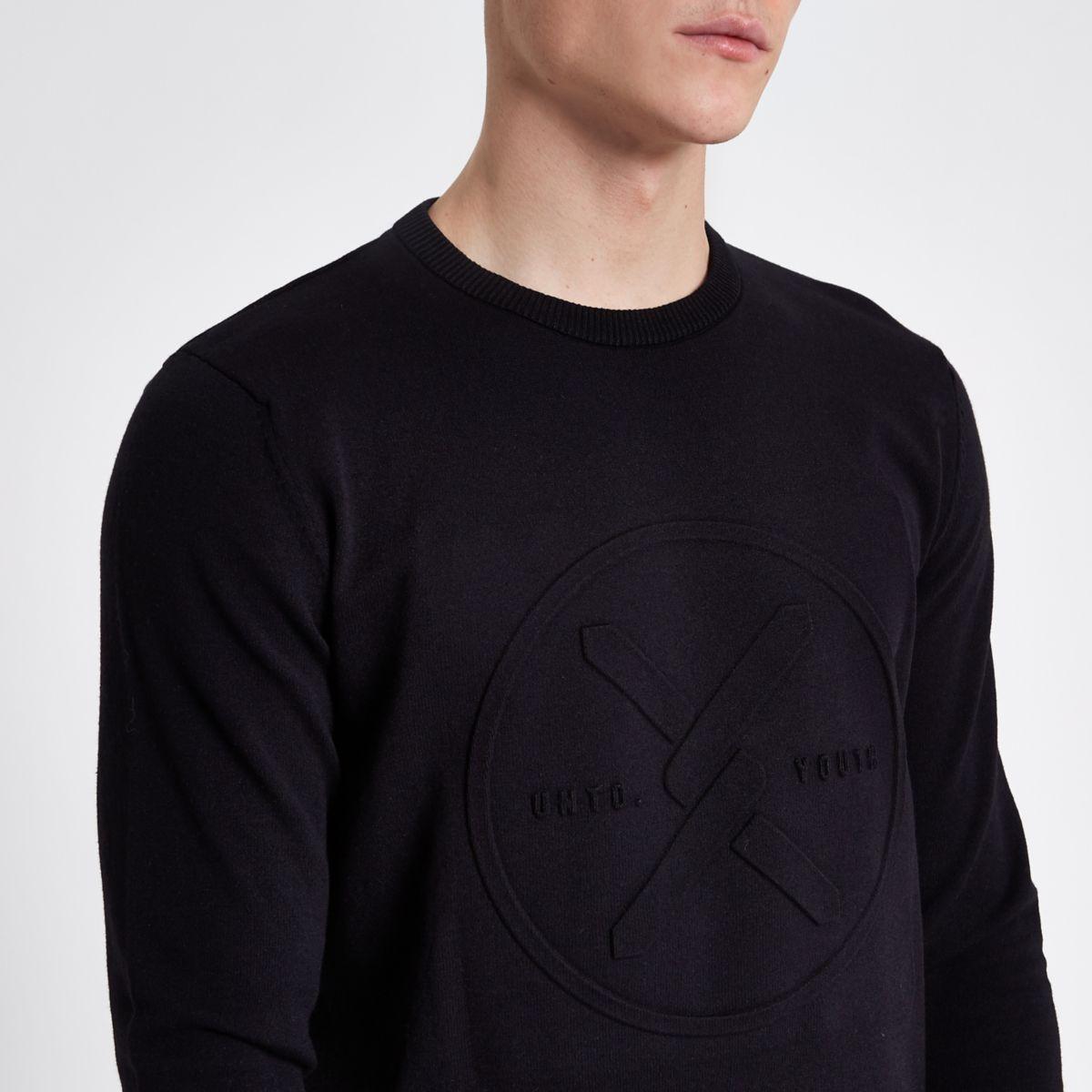 Jack & Jones Core black knit jumper