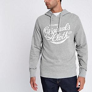 Jack & Jones - Grijze sweatshirt hoodie