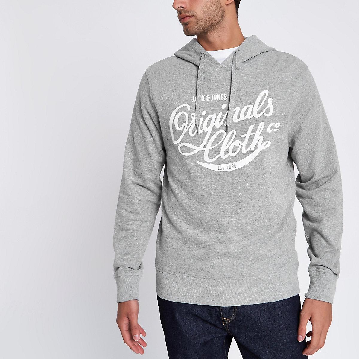 Jack & Jones grey sweatshirt hoodie