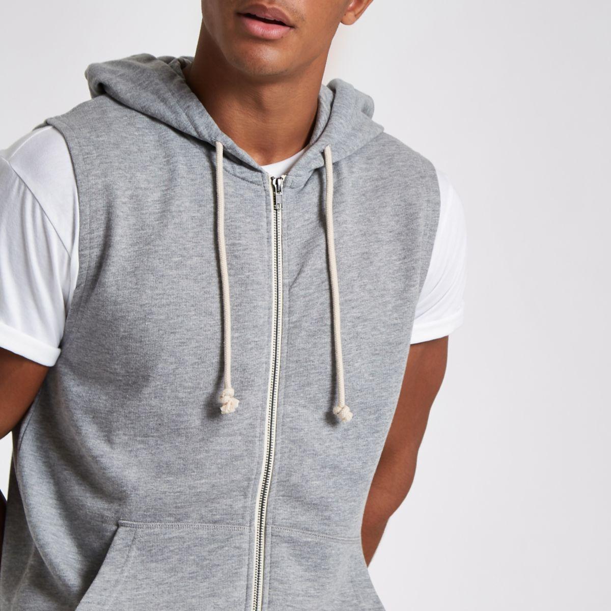 Jack hoodie Jones amp; grey sleeveless Originals rBrU4Rq