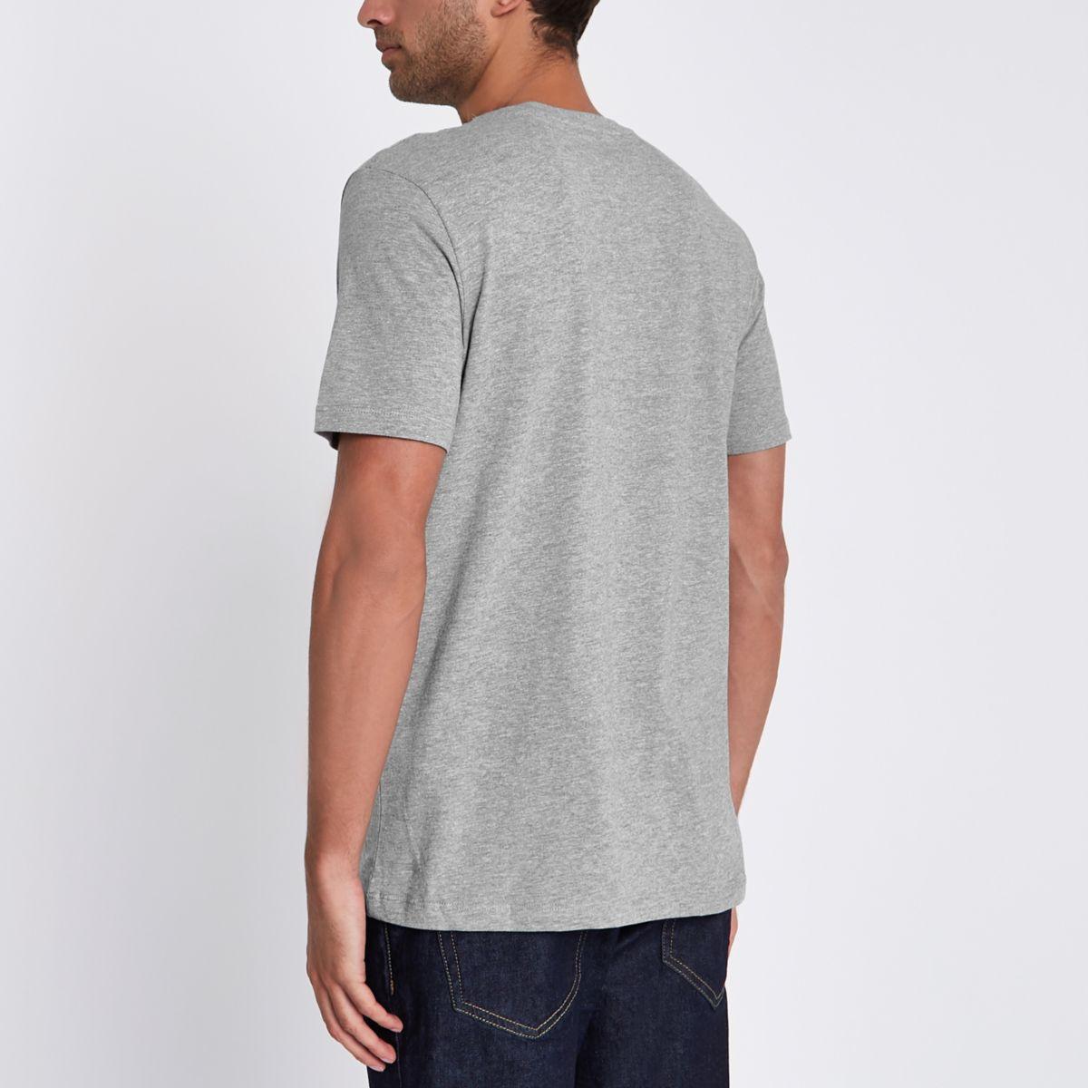 grey Jones shirt amp; print T crew neck Jack wxfqR