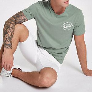 Jack & Jones Originals green printed T-shirt