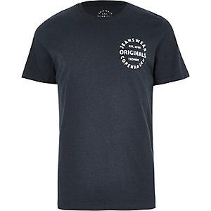 Jack & Jones Originals – Schwarzes T-Shirt mit Print