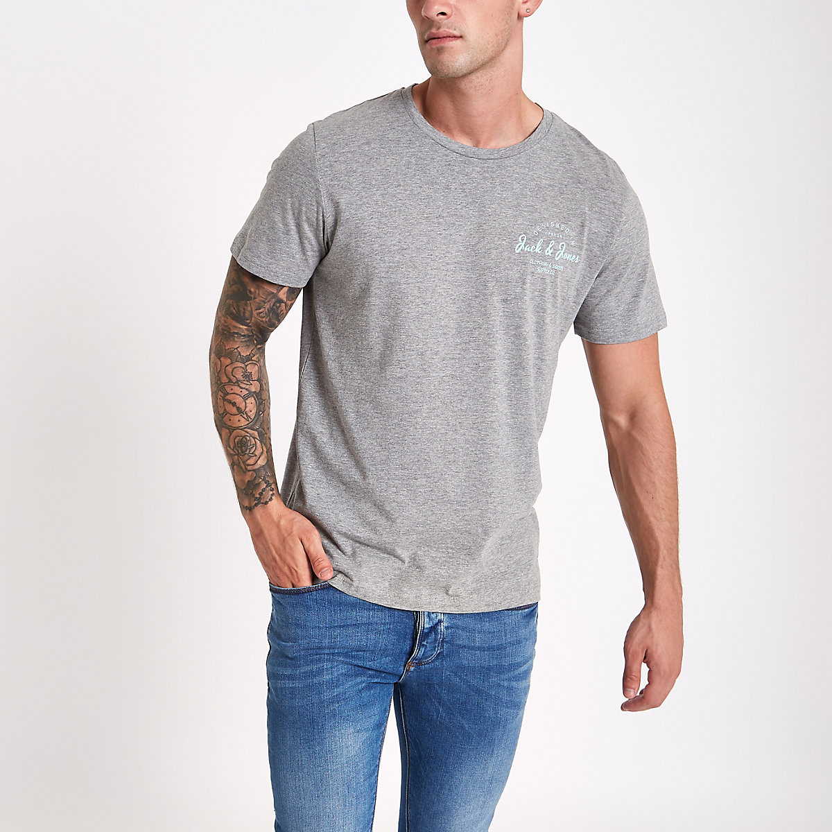 Jack & Jones Originals grey T-shirt