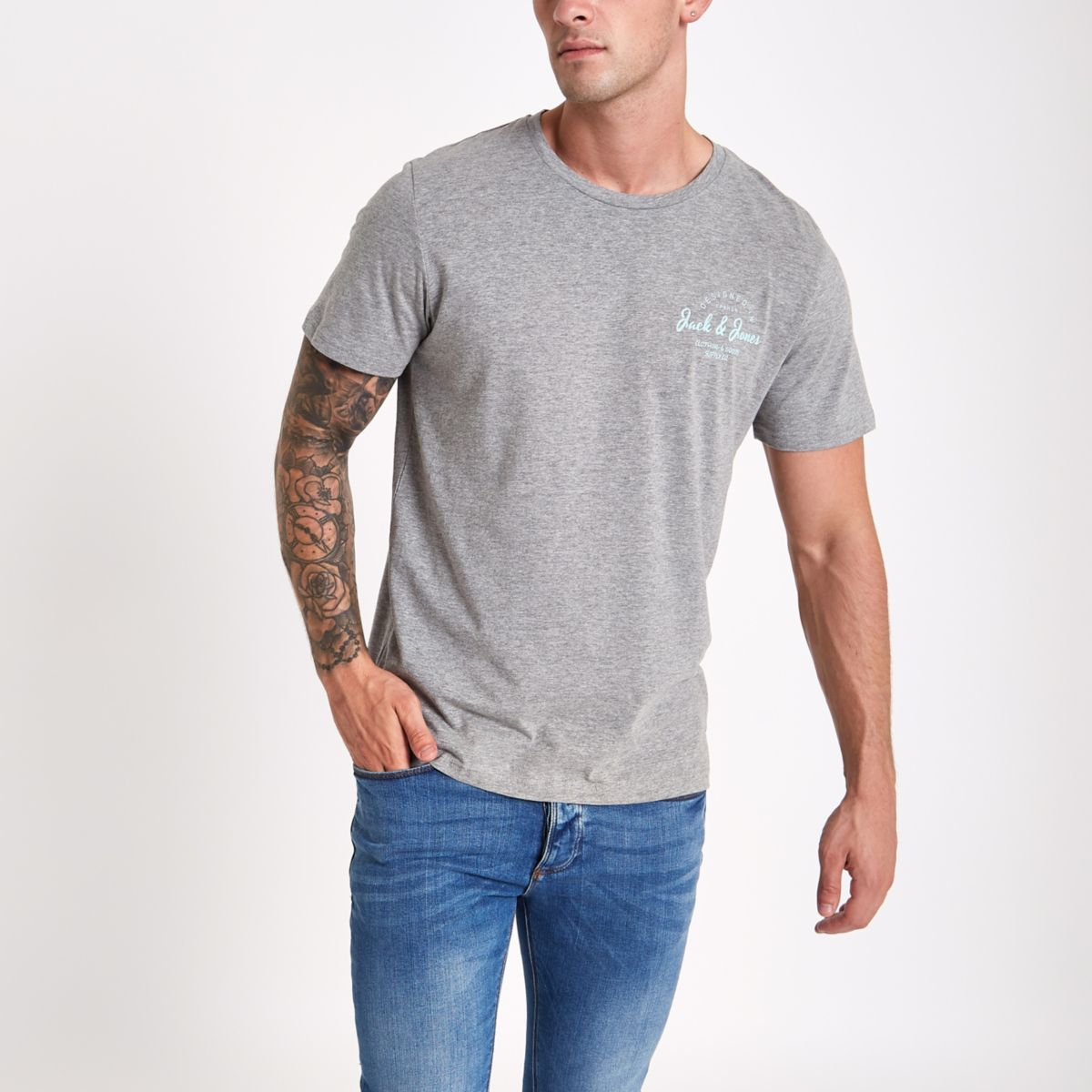Jack & Jones Originals grey T-shirt