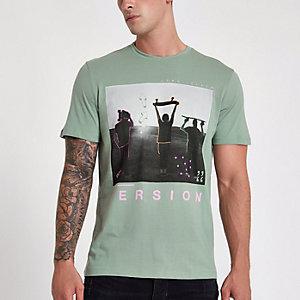 Jack & Jones Originals green photo T-shirt