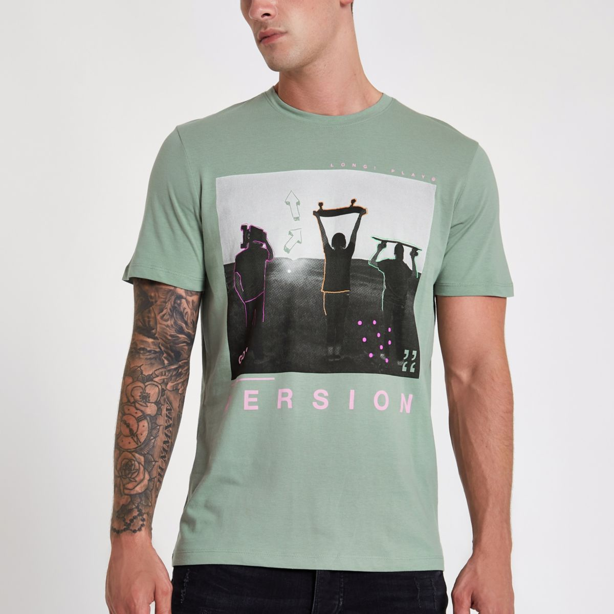 Jack & Jones Originals green photo T-shirt