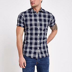Jack & Jones Originals navy check shirt