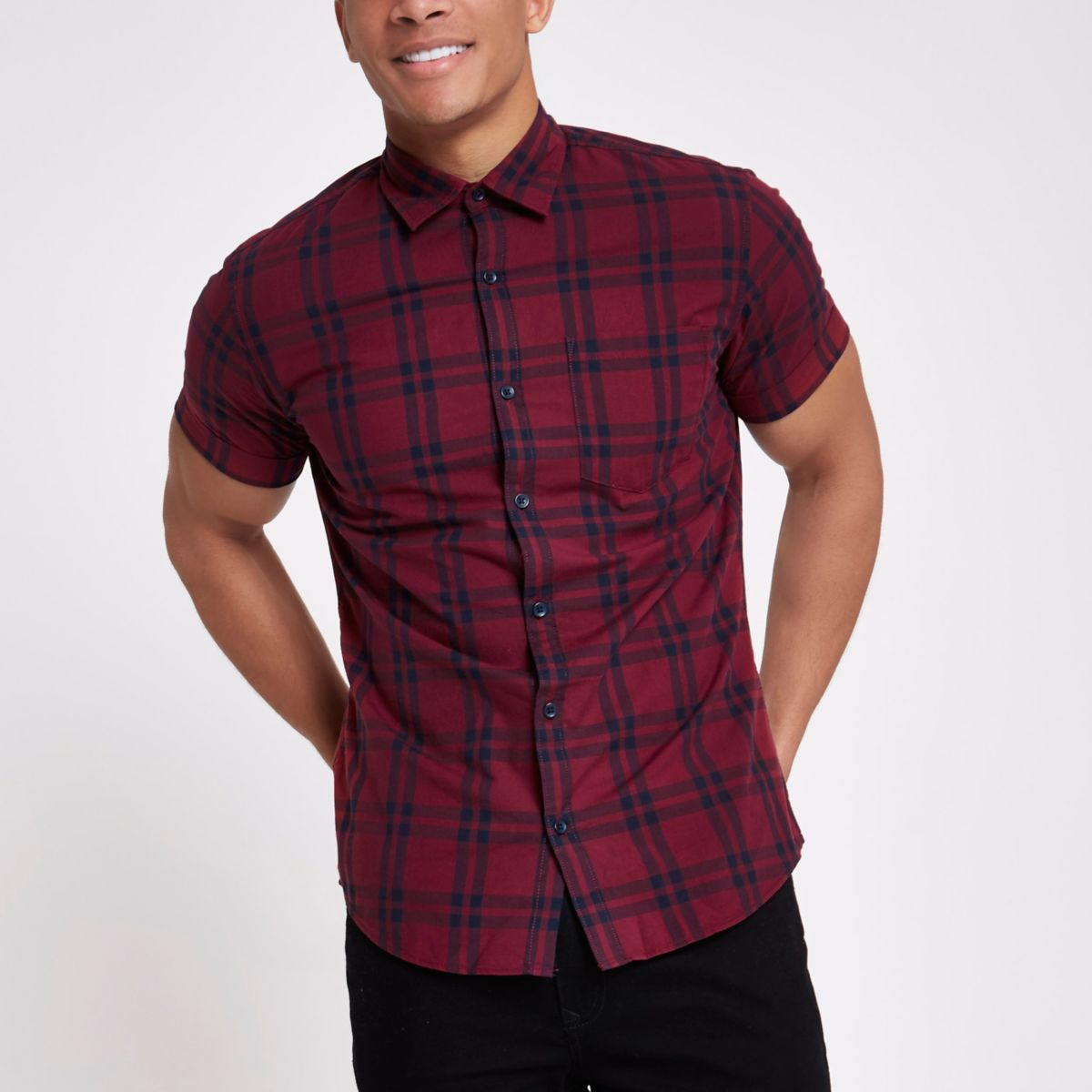 Jack & Jones Originals red check shirt