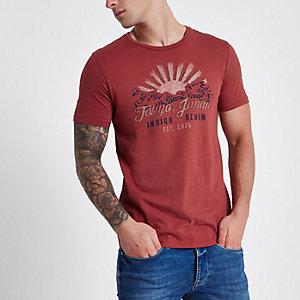 Jack & Jones red 'Tokyo, Japan' print T-shirt