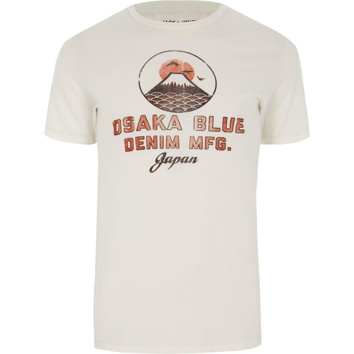 Jack 'Osaka' print shirt amp; T white Jones 7Oq7wvr