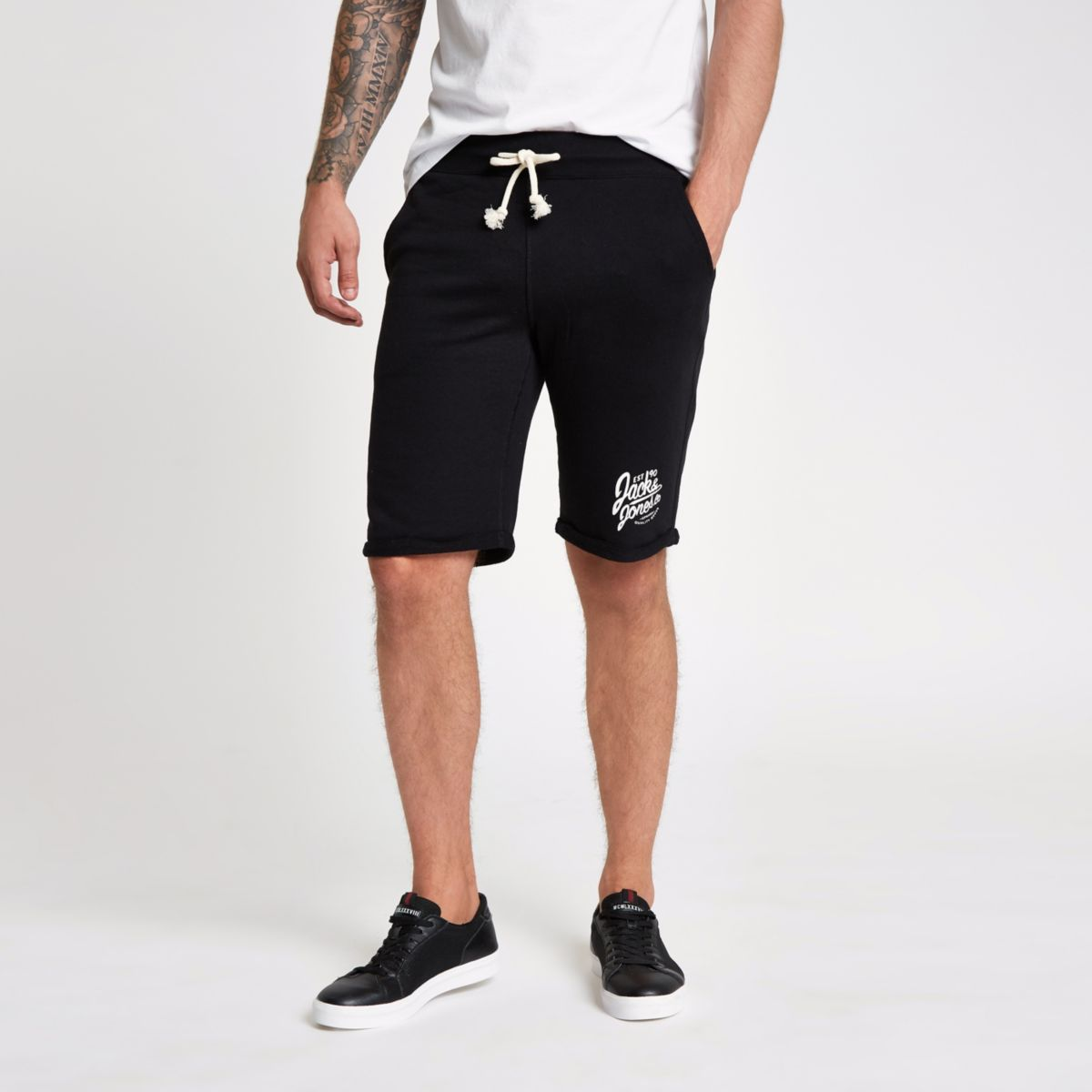 Jack & Jones black sweat short
