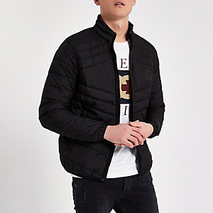 Jack & Jones black padded jacket