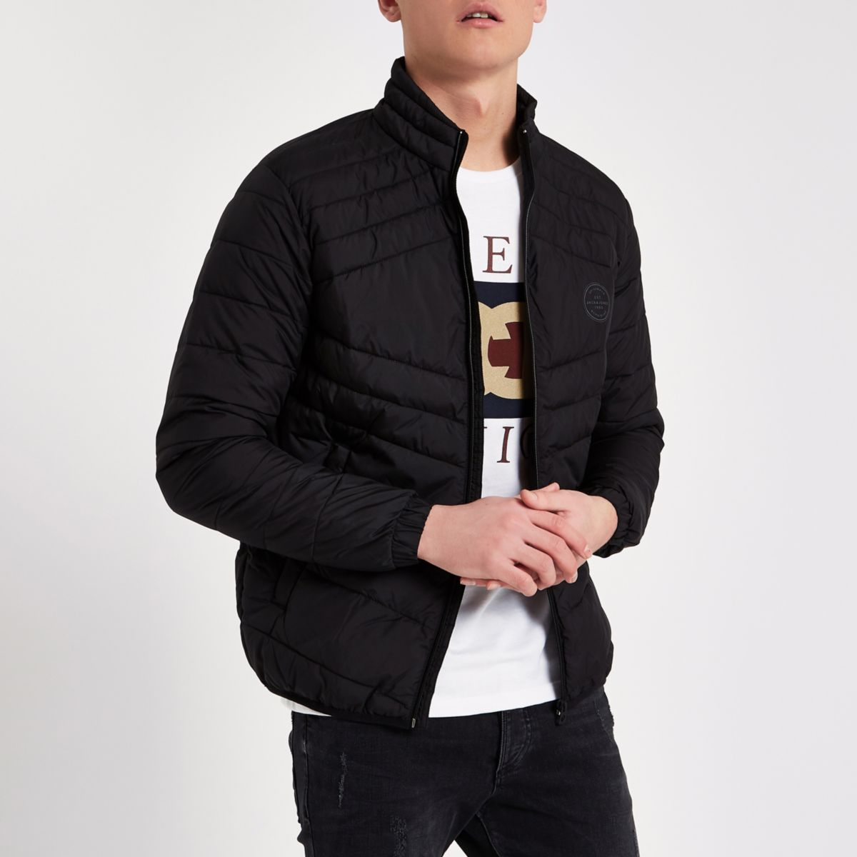 Jack & Jones black padded gilet