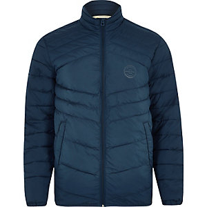 Jack & Jones Originals blue quilted jacket