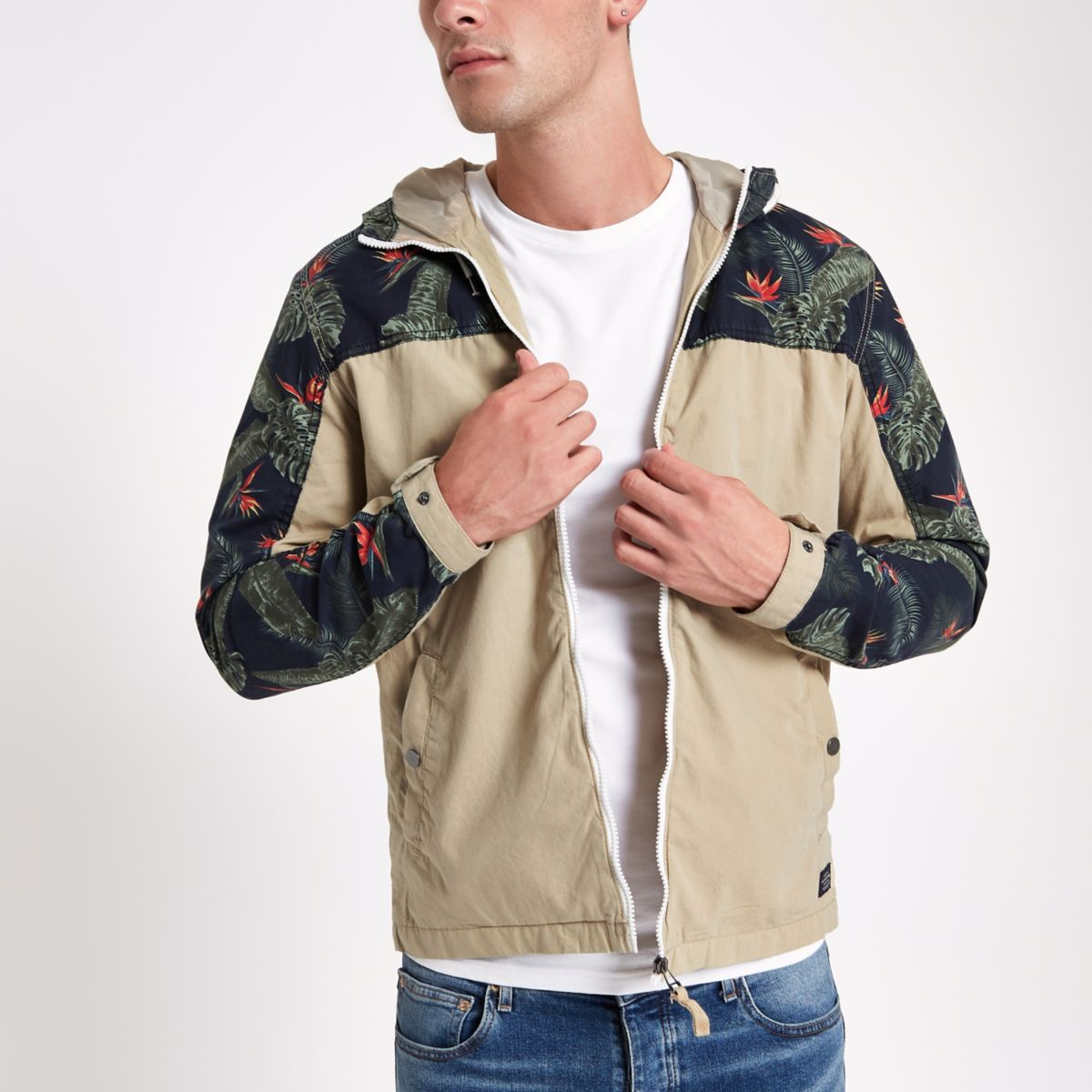 Jack & Jones Originals – Gelbe Kapuzenjacke