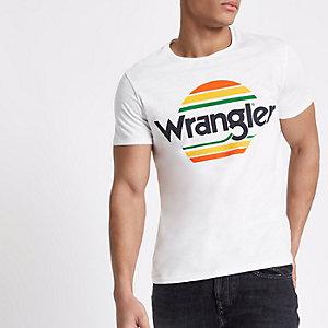 White Wrangler festival logo print T-shirt