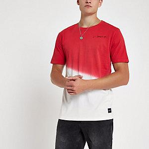 Only & Sons - Oranje T-shirt met dip-dyeprint