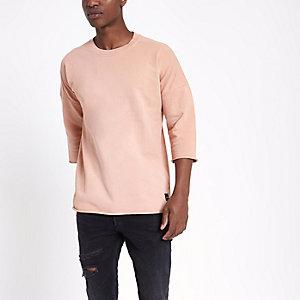 Only & Sons - Roze oversized T-shirt van sweatstof