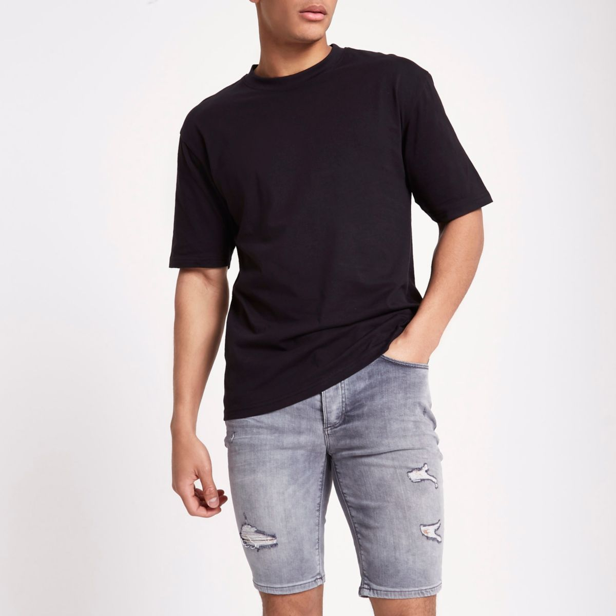 Only & Sons black oversized T-shirt