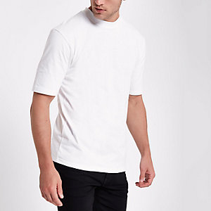 Only & Sons – Weißes Oversized-T-Shirt