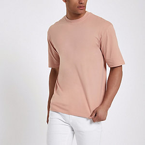 Pink Only & Sons oversized T-shirt