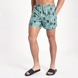 Blue Only & Sons print swim shorts