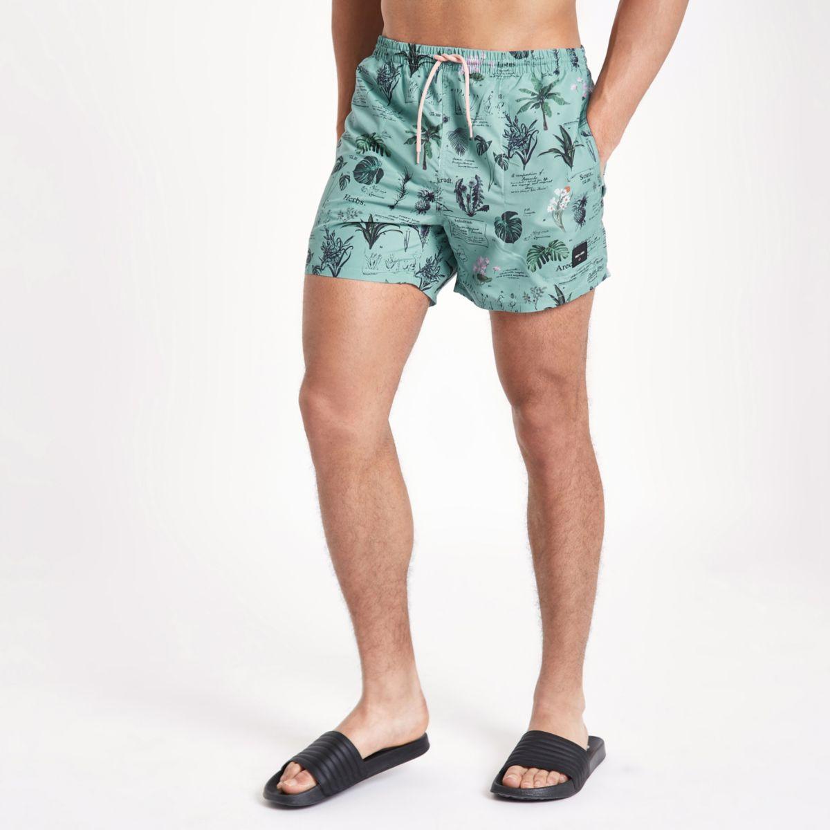 Only & Sons blue print swim shorts