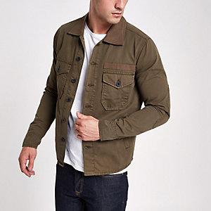 Wrangler - Kaki overhemd met knopen