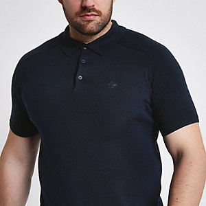 Big and Tall  navy short sleeve polo shirt