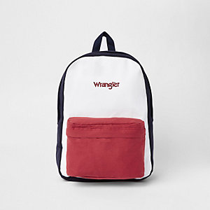 Wrangler navy color block backpack