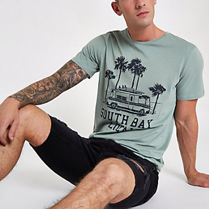 Jack & Jones Originals - Groen T-shirt met print