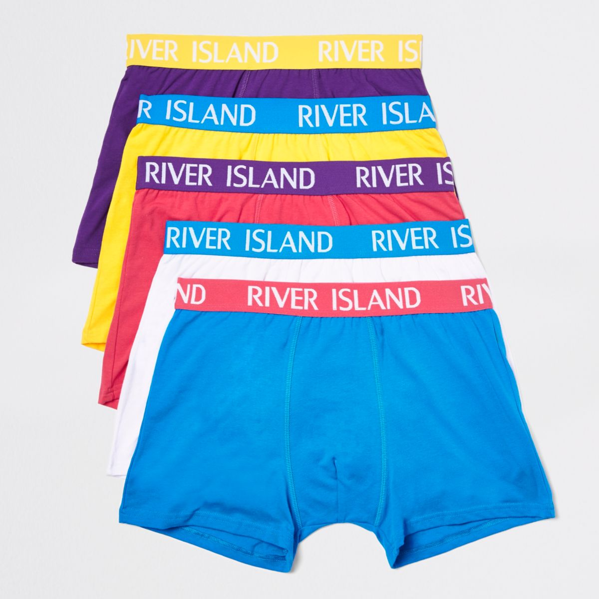 Bright blue RI branded trunks multipack