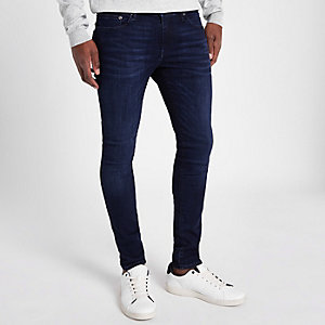 Danny - Donkerblauwe superskinny stretch jeans