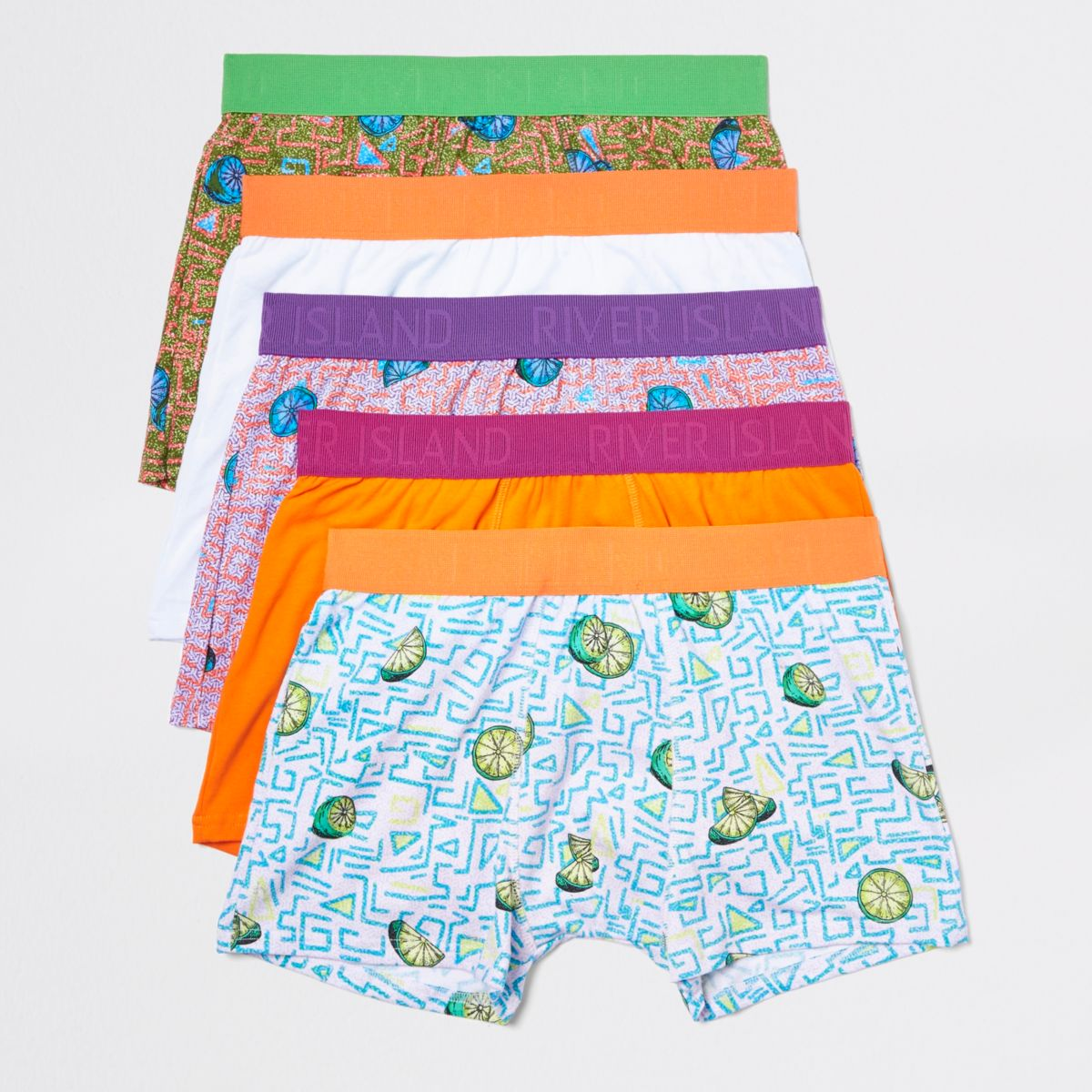 Orange funky fruit trunks multipack