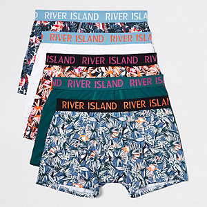 Lot de boxers imprimé flamant rose orange