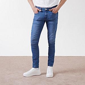 Jean skinny Eddie bleu moyen