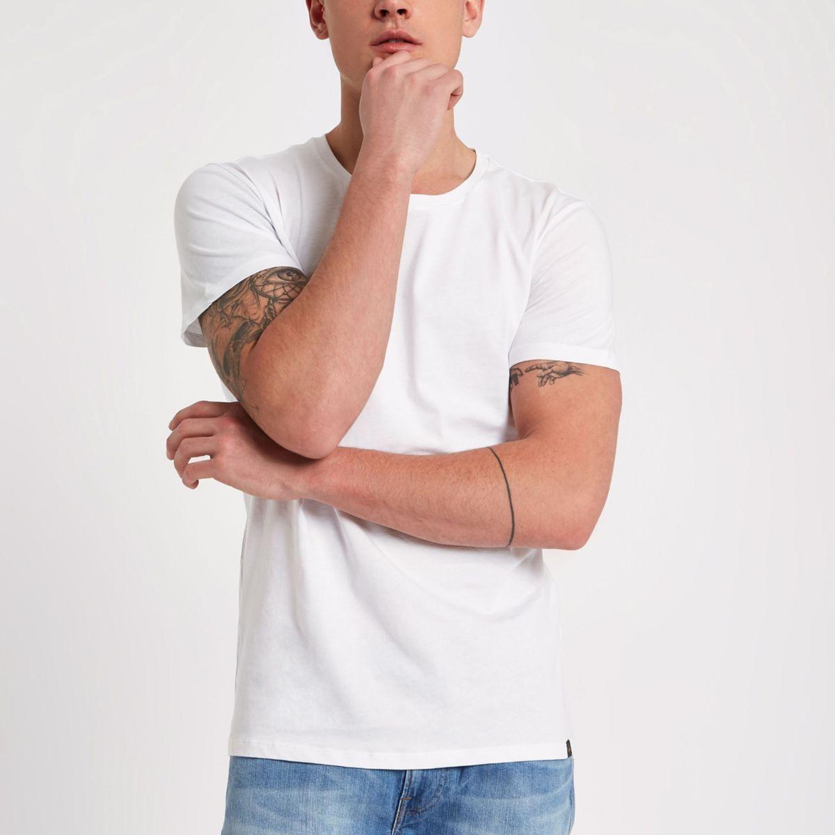 Lee white crew neck short sleeve T-shirt