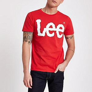 Red Lee logo print crew neck T-shirt