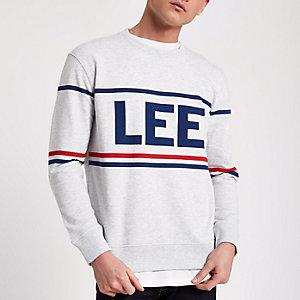 Grey marl Lee brand print sweatshirt