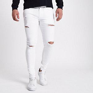 Ollie – Weiße Super Skinny Jeans