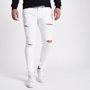 Ollie - Witte ripped superskinny jeans